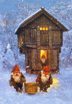 Art by Kjell E. his boots, top hat, coat and even his long beard is inspired by the ancient legends of the Scandinavian nisse? Norwegian Christmas, Scandinavian Christmas, Illustration Noel, Christmas Illustration, Christmas Gnome, Christmas Art, Christmas Quotes, Christmas Nails, Christmas Wreaths
