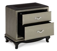 leather nightstand - Google Search