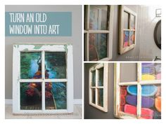 Window Wall Art #Art, #DIY, #Recycled, #Wall, #Window