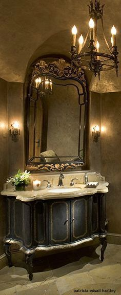Old World Tuscan Bathroom Mirrors Cypress Traditional Houston By Stillwater Builders Style Pinterest