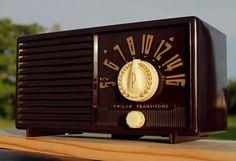 PHILCO Transitone B569 Vintage Antique Bakelite Tube Radio Art Deco FULL RESTORE #Philco