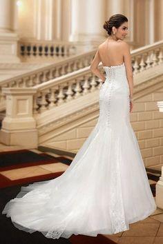 158.99 Sisjuly Women s Beaded Strapless Appliques Mermaid Court Train Wedding  Dresses  Amazon Fashion Lace Mermaid 13e78f2fb595