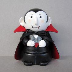 Halloween Dracula Flowerpot Bell Ornament by sanquicreations, $8.99
