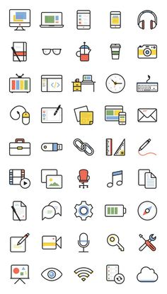 Free Download : Dashel Icon Set (45 Icons, SVG, PSD, PNG)