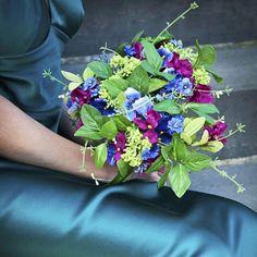 Faux flower wedding bouquet