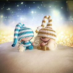 Free pattern Amigurumi elves and fairies crochet dolls. Folletti e fatine a uncinetto di Sara B. Schema italiano