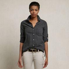 Black Pigment Boyfriend Shirt  found on Zady #MadeinUSA #ethicalfashion