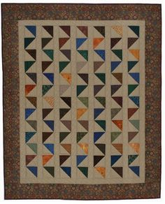 (7) Name: 'Quilting : Triangles Askew quilt pattern