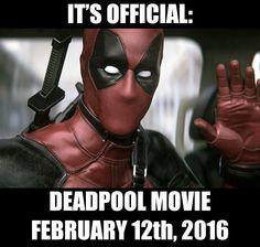 REALLY!?! OMG REALLY!? IM SCREAMING YEEEEEES DEADPOOL MOVIE YEEEEEEESSSSSS MY DAY HAS BEEN MADE WOOOHOOOOO YEAAAAH FINALLY!!!!!!!!!!!!!!!,
