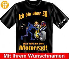 T-Shirt mit Namen - Bin über 30 - Bitte helfen Sie mir aufs Motorrad - Geschenk - Wunschnamen zum 30. Geburtstag, Größe:5XL (*Partner-Link)
