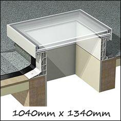 Em-Glaze Rectangular Flat Glass Skylights EG - Glass Skylight Roof Window x Double Glazed)