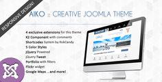 Aiko, mi más reciente diseño es un template Premium para Joomla 2.5 ideal para sitios corporativos, blogs y portafolios.  Disponible en exclusiva en ThemeForest.