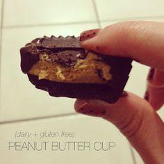 "YUM: ""Reeces"" peanut butter cup recipe (dairy + gluten free)"