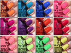 The PolishAholic: China Glaze Summer 2014 Off Shore Collection Swatches & Review