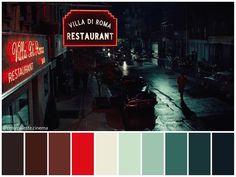Movie Color Palette, Colour Pallete, Color Palettes, Color Schemes, Color In Film, Noir Color, Cinema Colours, Color Palette Generator, Color Script