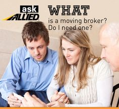 A moving broker will locate a mover to move you.  There are pros and cons to using a broker.  The most obvious pro is that they will quote you a price to move and you just have to be ready.  A some of the cons are not knowing if the company that will move you is reliable, certified, or reputable.  Ask your broker lots of questions. For more helpful moving tips visit  www.allied.com/blog