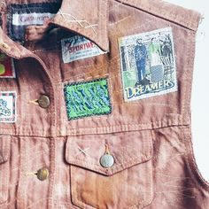 Colete jeans marrom #customização