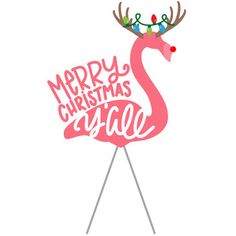 Silhouette Design Store: Merry Christmas Y'all Flamingo Image of design Christmas Rock, Coastal Christmas, Pink Christmas, Christmas Time, Christmas Crafts, Christmas Flamingo, Beach Christmas Ornaments, Merry Christmas Images, Christmas Labels