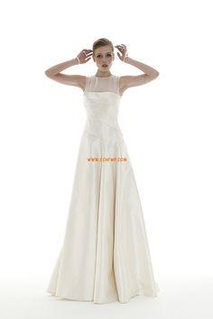 Hof-Schleppe Taft 3/4 Arm Brautkleider 2014