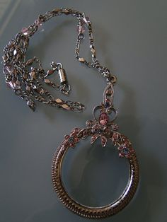 Retro Magnifying Glass Necklace by retro0vintage on Etsy, $40.00