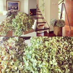 Hoy toca decorar ya de #otoño y la #hortensia da mucho juego...#style #autumn #decor #decoration #driedflowers #floressecas