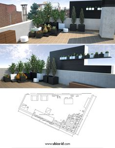 Landscaping Improvement Project in terrace of particular housing in the zone of Sarriá's neighborhood in Barcelona #terrace