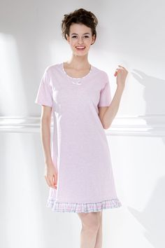 Košilka 387357 Short Sleeve Dresses, Dresses With Sleeves, Shirt Dress, T Shirt, Fashion, Gowns With Sleeves, Moda, Shirtdress, Tee