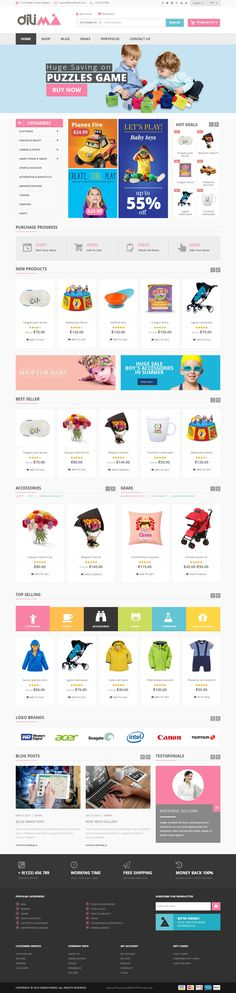 Dilima is perfect Mega Store Responsive WooComerce Theme for multipurpose eCommerce website. #childrenshop #toystore
