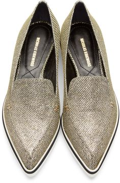 Nicholas Kirkwood Gold Metallic Alona Loafers