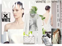 """""""White on White"""" by queenranya ❤ liked on Polyvore"""