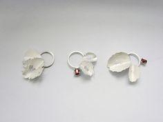 brooches - 925 silver, garnet