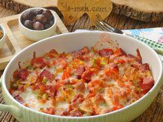 Fırında Kahvaltılık Sucuklu Patates Resimli Tarifi - Yemek Tarifleri