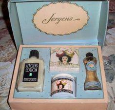 Vintage Jergens Face Cream gift set