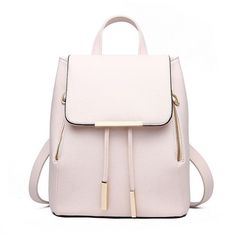 Women Daily Backpacks Daypack Girl School Bag PU Leather Bags Candy Color Travel bag