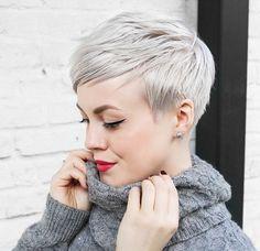 Icy blond is de kleur die jij eens geprobeerd moet hebben in een kort kapsel! - Kapsels voor haar