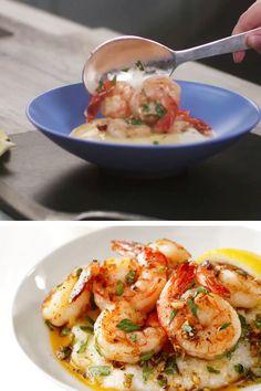 Shrimp Recipes For Dinner, Shrimp Recipes Easy, Brunch Recipes, Fish Recipes, Seafood Recipes, Beef Recipes, Vegetarian Recipes, Cooking Recipes, Healthy Recipes