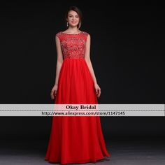 Find More Prom Dresses Information about Hot V Neck Beading Prom Dresses 2016 Evening Gown Red Crystal Vestido De Festa Sequined A line Long Prom Dress,High Quality dress stud,China dress rayon Suppliers, Cheap dresses dress from OkBridal Dress Co.,Ltd on Aliexpress.com