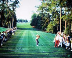 Jack Nicklaus' tee shot at 18, at the 1986 Masters.