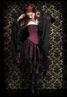 Delilah Dramatic Gothic Sleeves Gloves or Arm Warmers in Lace, Chiffon and Velvet - Custom Elegant Gothic Clothing and Dark Romantic Couture