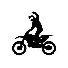 Shop Online Ricambi e Accessori per Motocross e Enduro Dirt Bike Tattoo, Bike Tattoos, Bike Silhouette, Black Silhouette, Broken Screen Wallpaper, Custom Tanks, Race Car Party, Custom Bobber, Custom Bikes