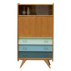 secrétaire vintage années 50 tiroirs #rienacirer #vintage #decoration #secretairevintage