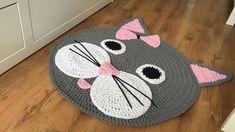 Artículos similares a Baby rug, decorative crochet rug en Etsy Crochet Mat, Crochet Rug Patterns, Crochet Carpet, Crochet Pillow, Crochet Home, Baby Knitting Patterns, Crochet Crafts, Crochet Projects, Cat Crochet