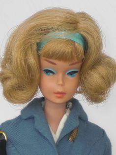 Side Part American Girl Vintage Barbie in Pan Am Stewardess