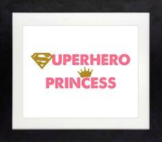 Superhero Princess Printable // Girl Superhero by NothingPanda
