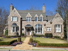 Brick & Stone Exteriors Homes | Traditional - brick and stone