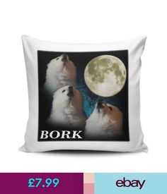 Home Decor Gabe The Dog 'Bork' Funny Novelty Cushion Cover & Garden Decorative Pillow Covers, Cushions, Throw Pillows, Funny, Dogs, Ebay, Garden, Home Decor, Furniture