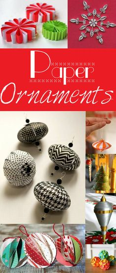 Explore this collection of easy and inexpensive paper Christmas ornament crafts for decorating your tree in style!