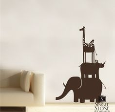 So cute for a nursery or kids room. You could even put a little lion cub on top. Lion king!