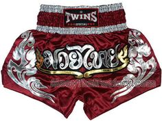 Twins special Twins Special Muay Thai shorts - Lai Thai - MAROON for sale.  [TBS-X-120]