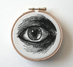 Hand Embroidered Eye Illustrations by Sam P. Gibson ilustracion y bordado Embroidery Hoop Art, Cross Stitch Embroidery, Embroidery Patterns, Portrait Embroidery, Etsy Embroidery, Embroidery Monogram, Learn Embroidery, Diy Broderie, Eye Illustration